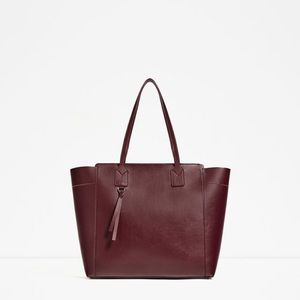 Zara Faux Leather ZIP-UP Tote